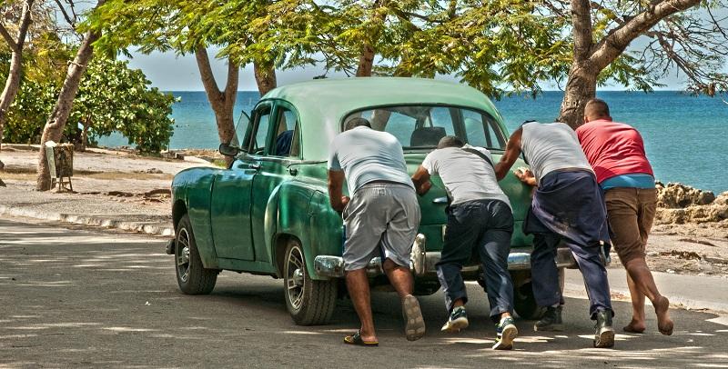 Broken down old car in Cuba