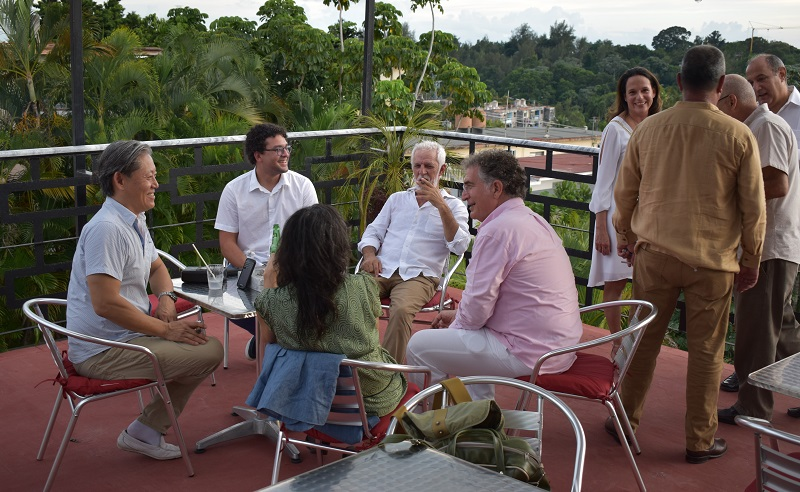 Guests on the rooftop of Chateau Blanc in Havana