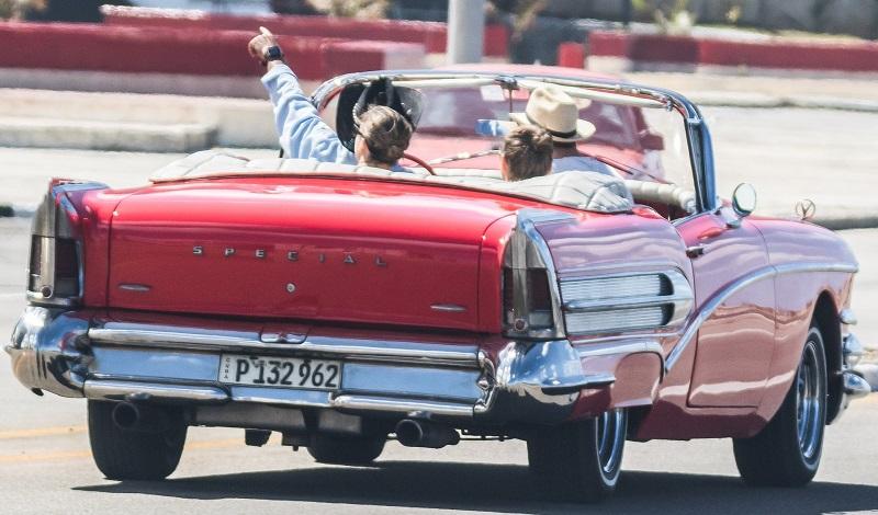 A vintage car ride in Havana, Cuba