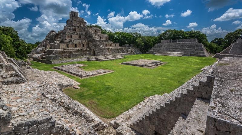 The Maya site of Edzna in Campeche
