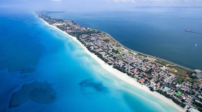 Aerial view of Varadero, Cuba