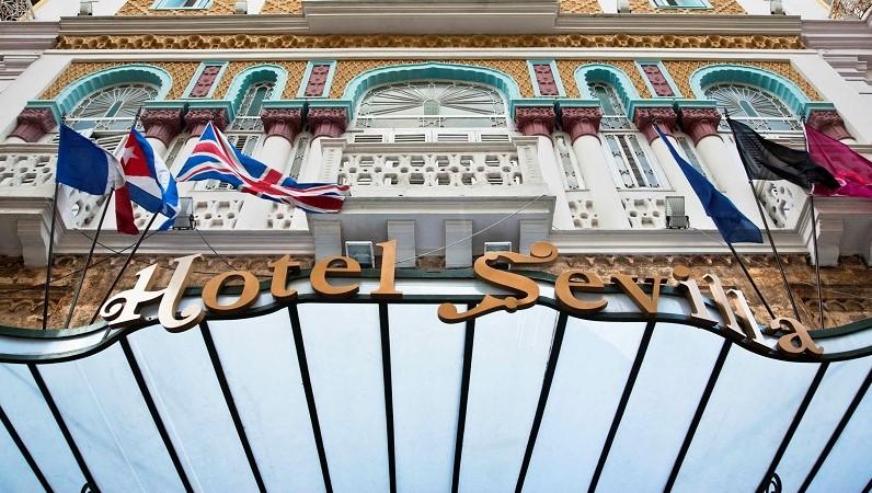 Exterior of the Hotel Sevilla in Old Havana