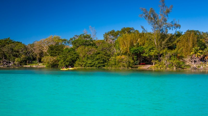 Kayaking on Laguna Bacalar