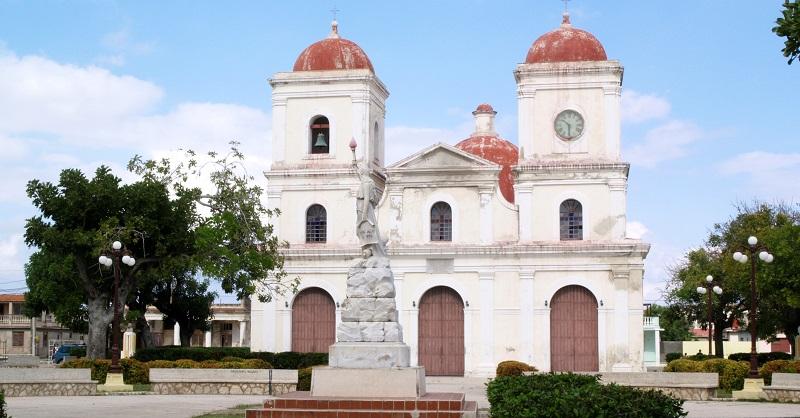 Exterior of church in Gibara, Cuba